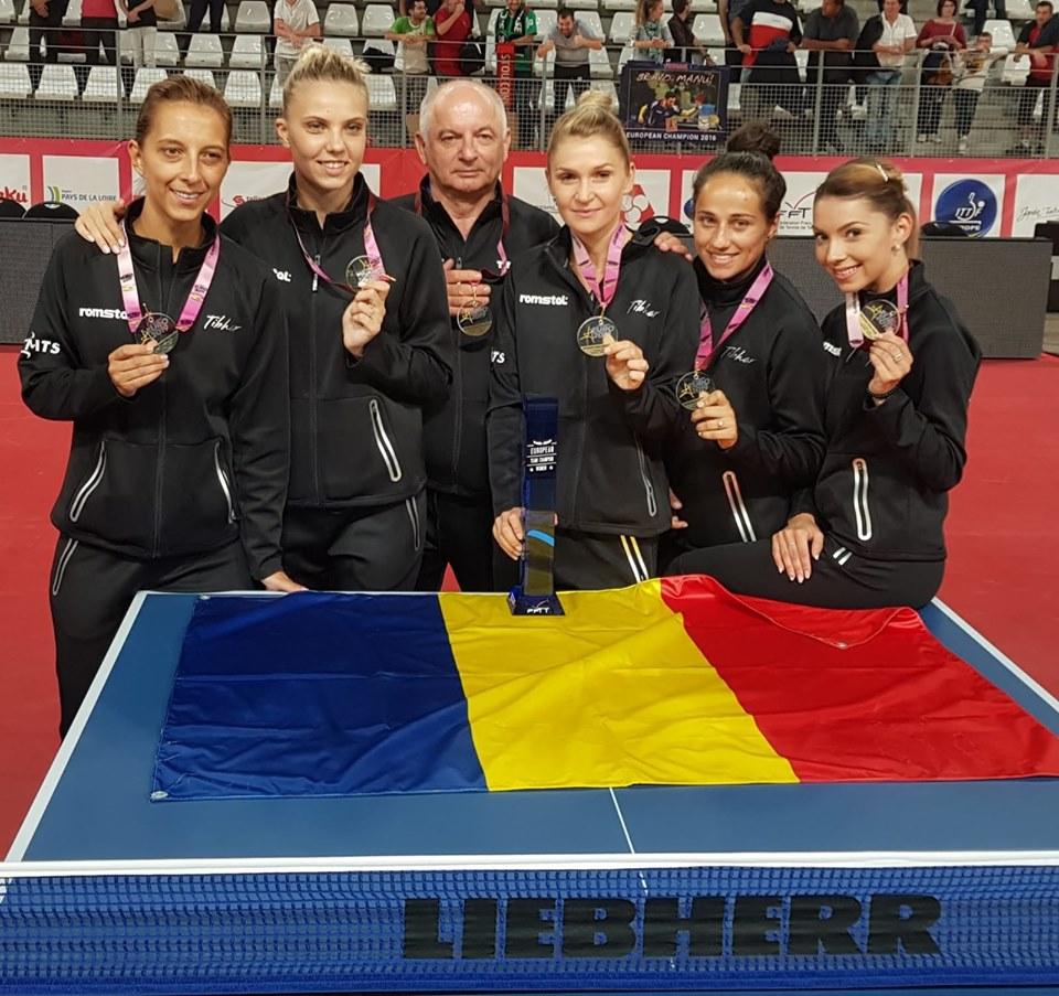 Dana Dodean a cucerit aurul la Nantes, luna trecută, cu echipa României, la Campionatul European