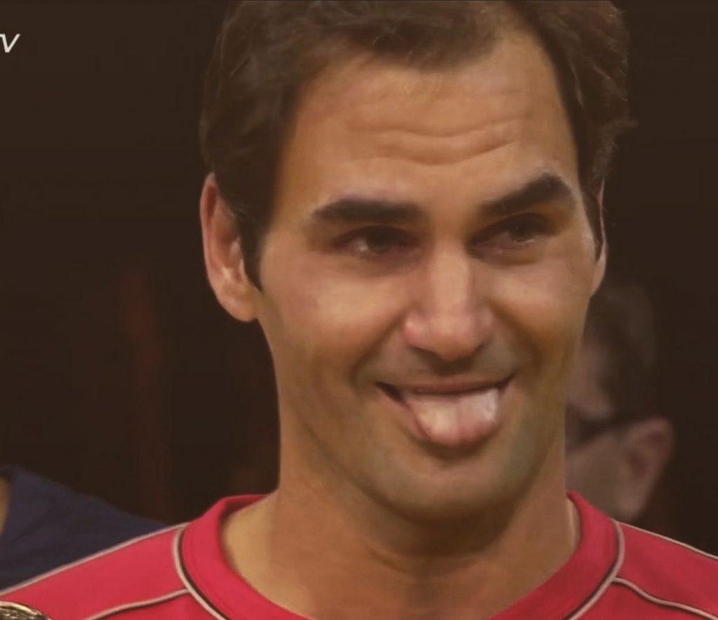 Analiză: Turneul Campionilor 2019. Tabloul grupelor din perspectiva poziționării lui Roger Federer. Captură din timpul ceremoniei de premiere de la Basel