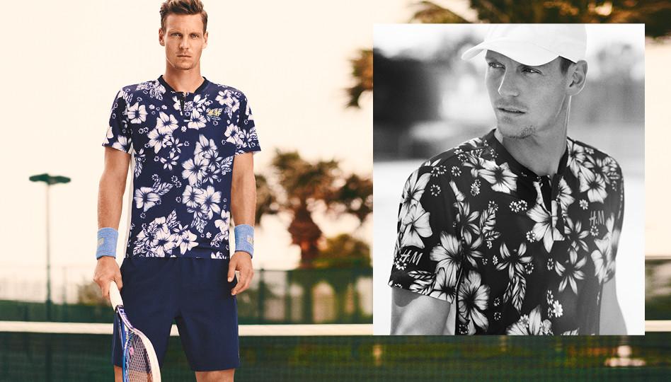 Tomas Berdych a devenit un adevărat icon pe durata colaborării cu producătorul suedez de îmbrăcăminte, H&M.