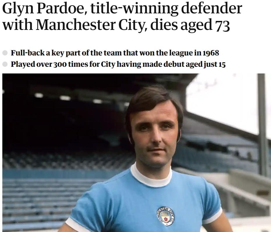 Glyn Pardoe Manchester City