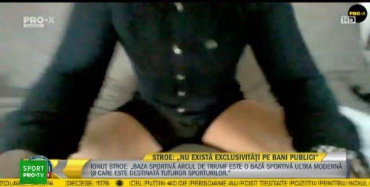 Ionuț Stroe în lenjerie intimă la TV