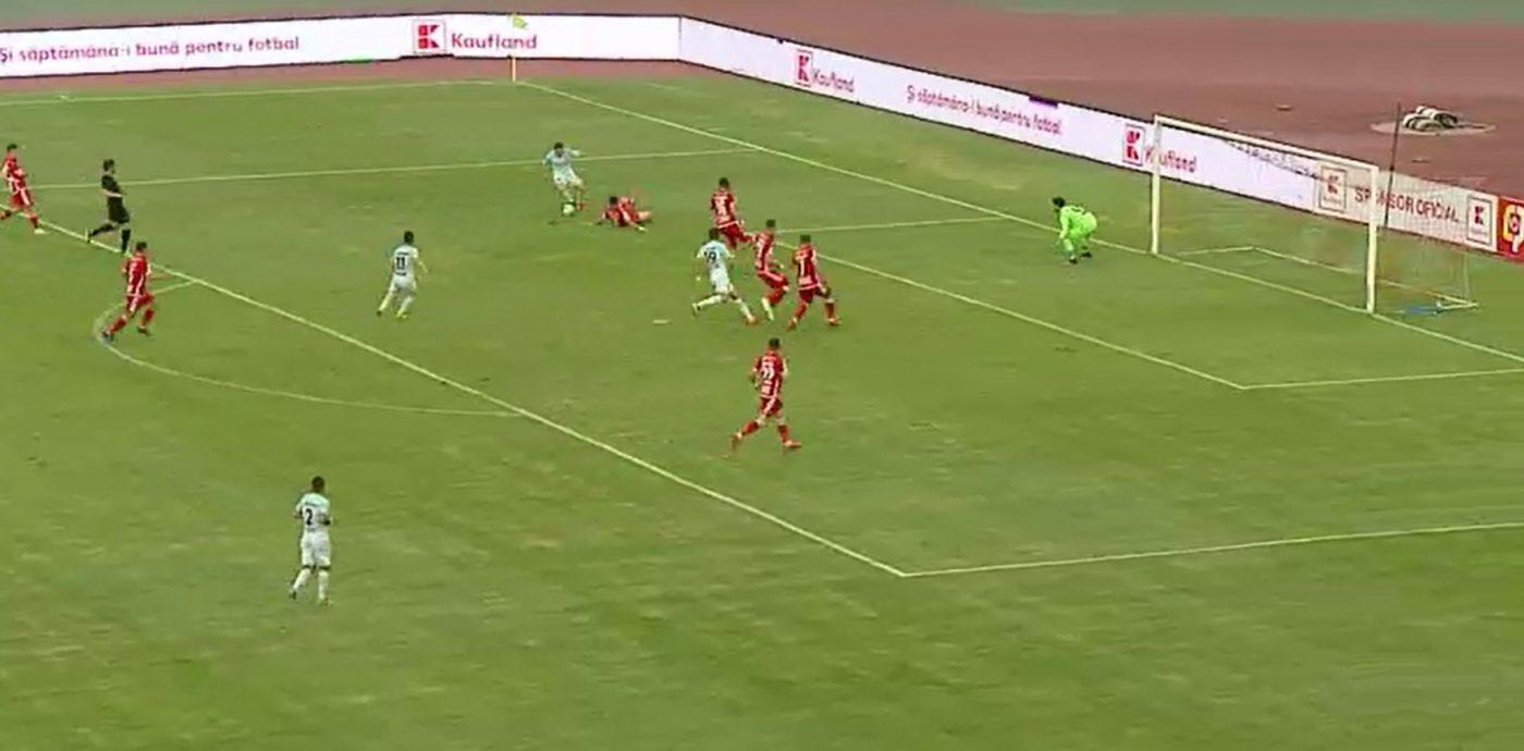 Adi Popa, dedicație pentru Gigi Becali: a marcat cu Dinamo