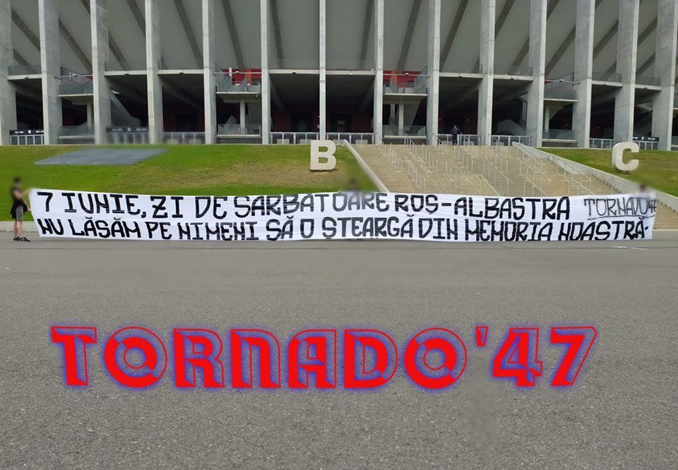 suporteri fcsb mesaj ziua stelei nationa arena banner