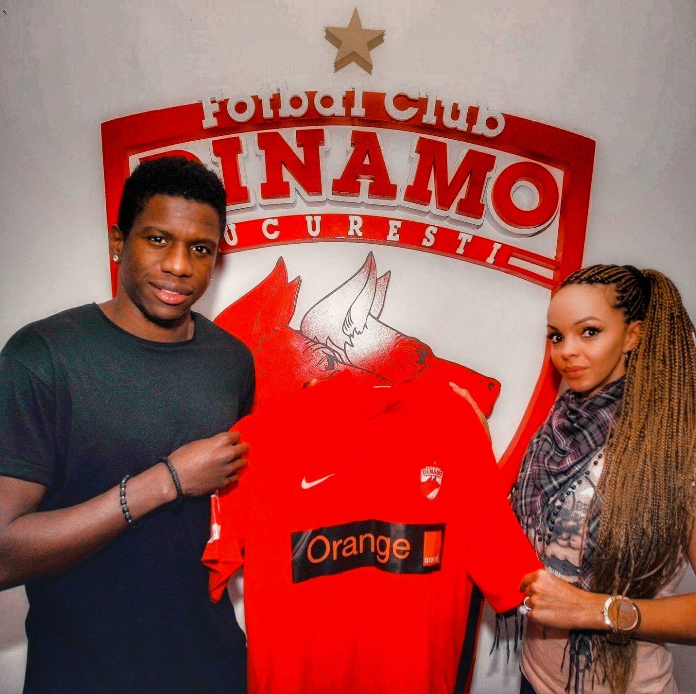 Patrick Ekeng și Laurette Nogo, în momentul venirii la Dinamo