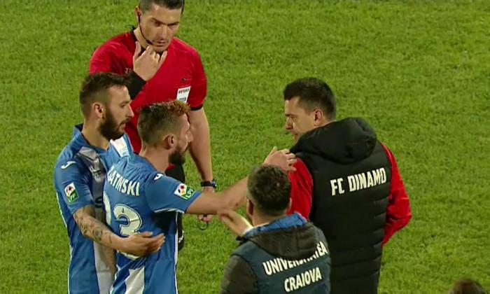 Bucuria de la golul lui Zlatinski în Universitatea Craiova - Dinamo 2-1 (sezonul 2016-2017)