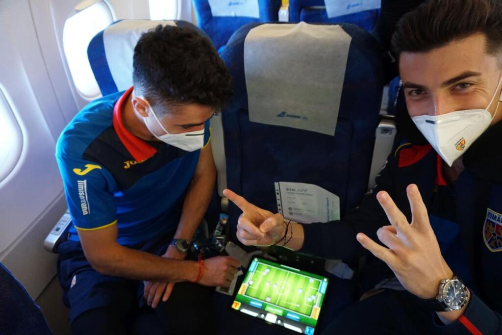 Jucatorii nationalei de tineret, in avion spre Ucraina
