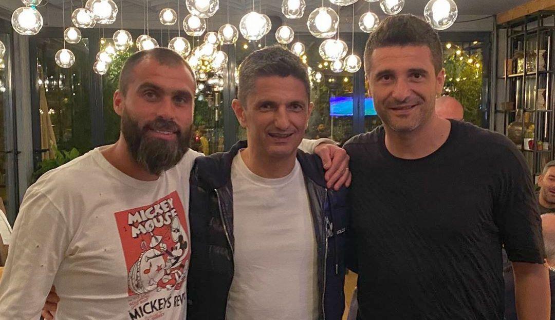 Vasile Maftei (stânga), alături de Răzvan Lucescu și Daniel Niculae