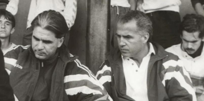 Țiți Dumitriu este alături de Anghel Iordănescu la o acțiune a echipei naționale