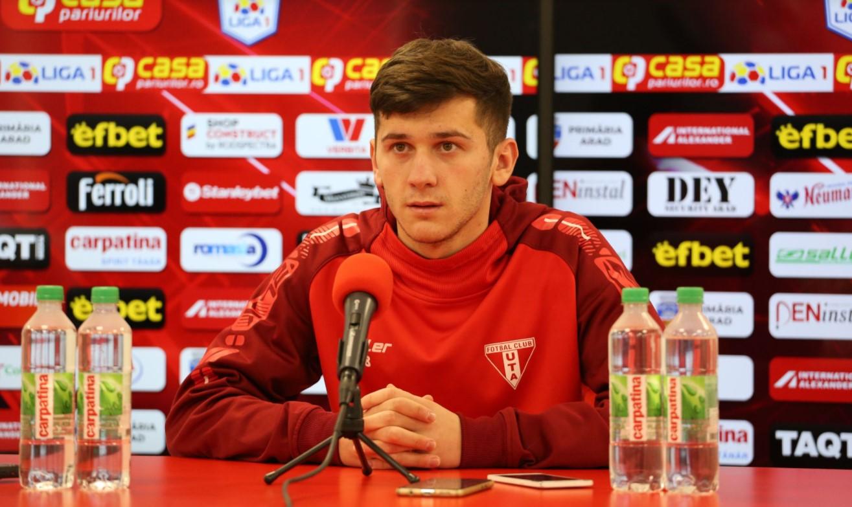 Damian Isac în conferință de presă înainte de UTA Arad - Astra Giurgiu