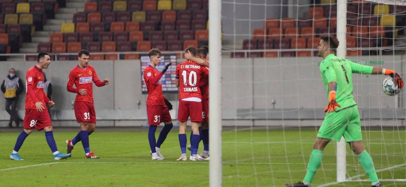 FCSB – FC Voluntari 1-0 | Live Video Online în etapa 18 a Ligii 1 | Dennis Man deschide scorul