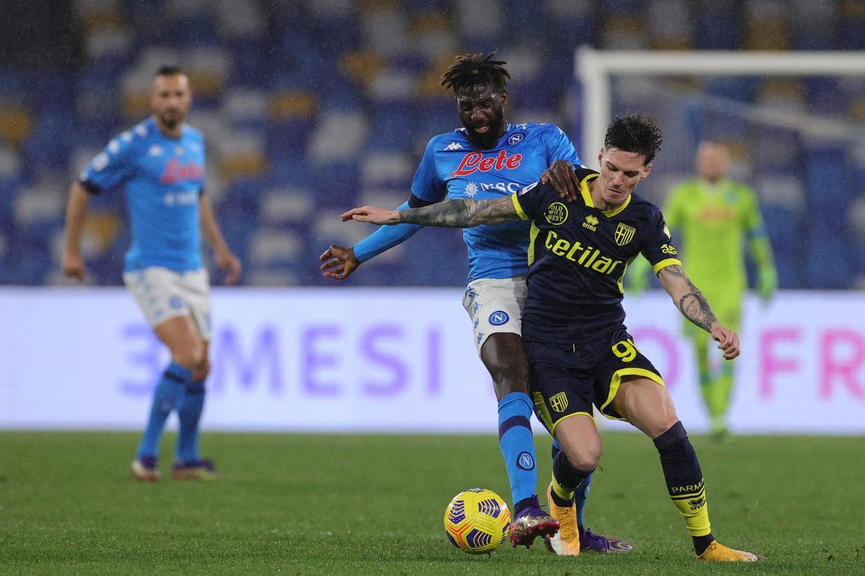 Dennis Man a debutat aseară pentru Parma, în înfrângerea cu Napoli 0-2