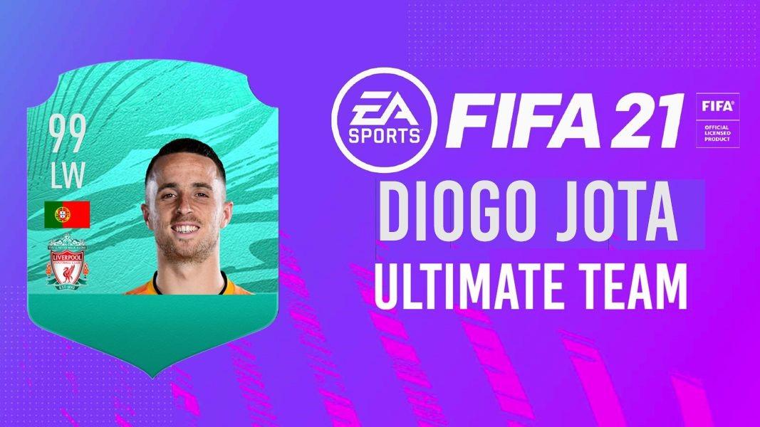 Diogo Jota se antrenează în FIFA 21, în timp ce e accidentat! Atacantul are una dintre cele mai puternice echipe din joc