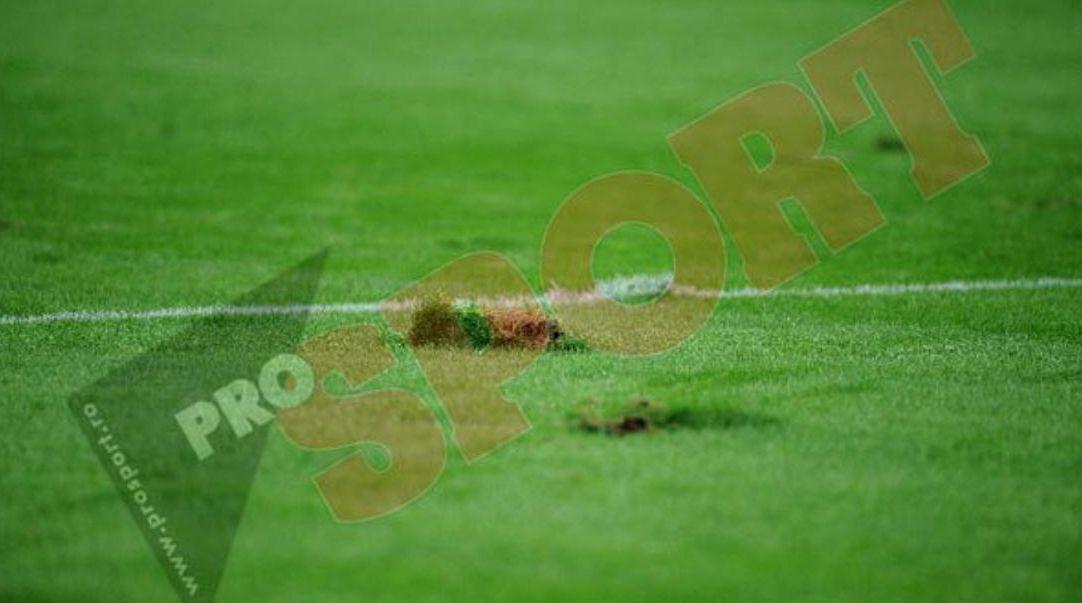 Așa arăta gazonul Arenei Naționale la ora meciului inaugural, România - Franța, jucat pe data de 6 septembrie 2011
