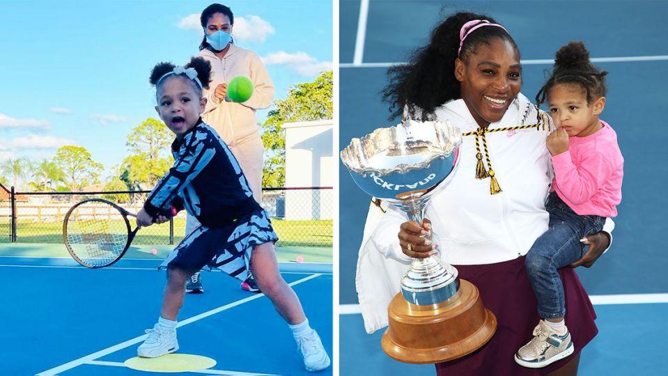 Serena Williams se pregătește să-i predea ștafeta fiicei sale! Alexis Olympia a început deja să joace tenis | FOTO