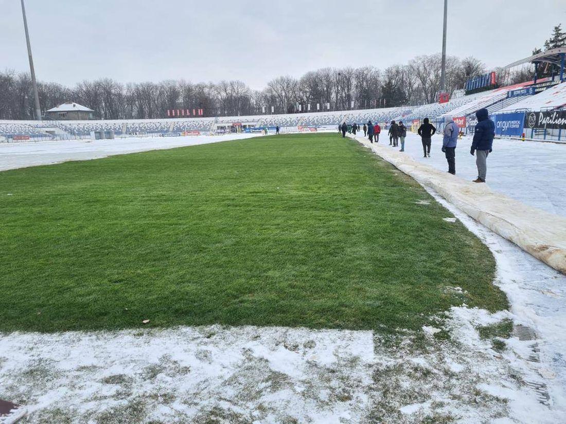 Cum se prezintă terenul celor de la Poli Iași înaintea derby-ului cu FC Botoșani | GALERIE FOTO