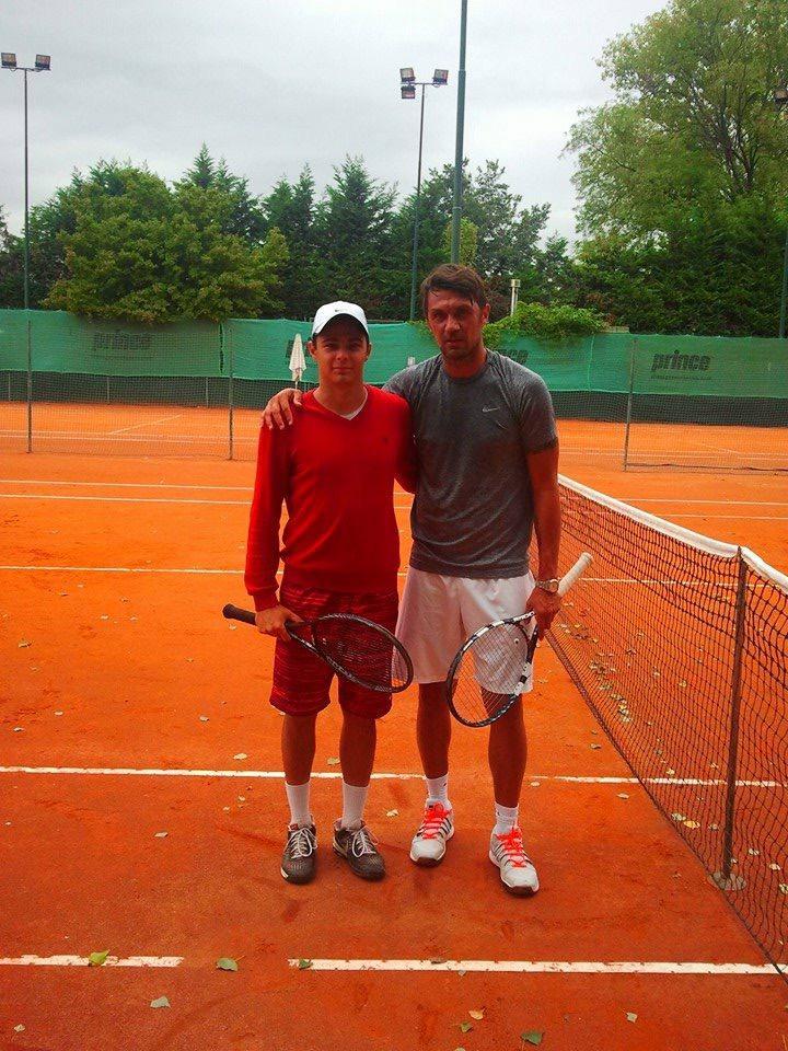 Alex Balica, alături de Paolo Maldini