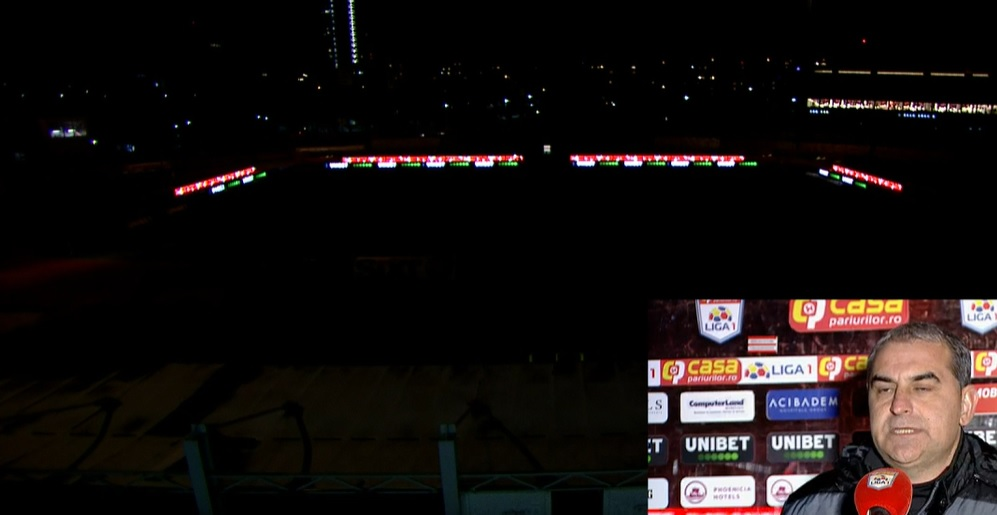 Dinamo a stins nocturna înaintea meciului cu Sepsi pentru a porni instalația de încălzire