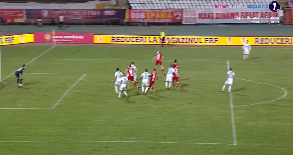 Adam Nemec reia cu capul și deschide scorul cu FCSB, în optimile Cupei României, ediția 2020-2021