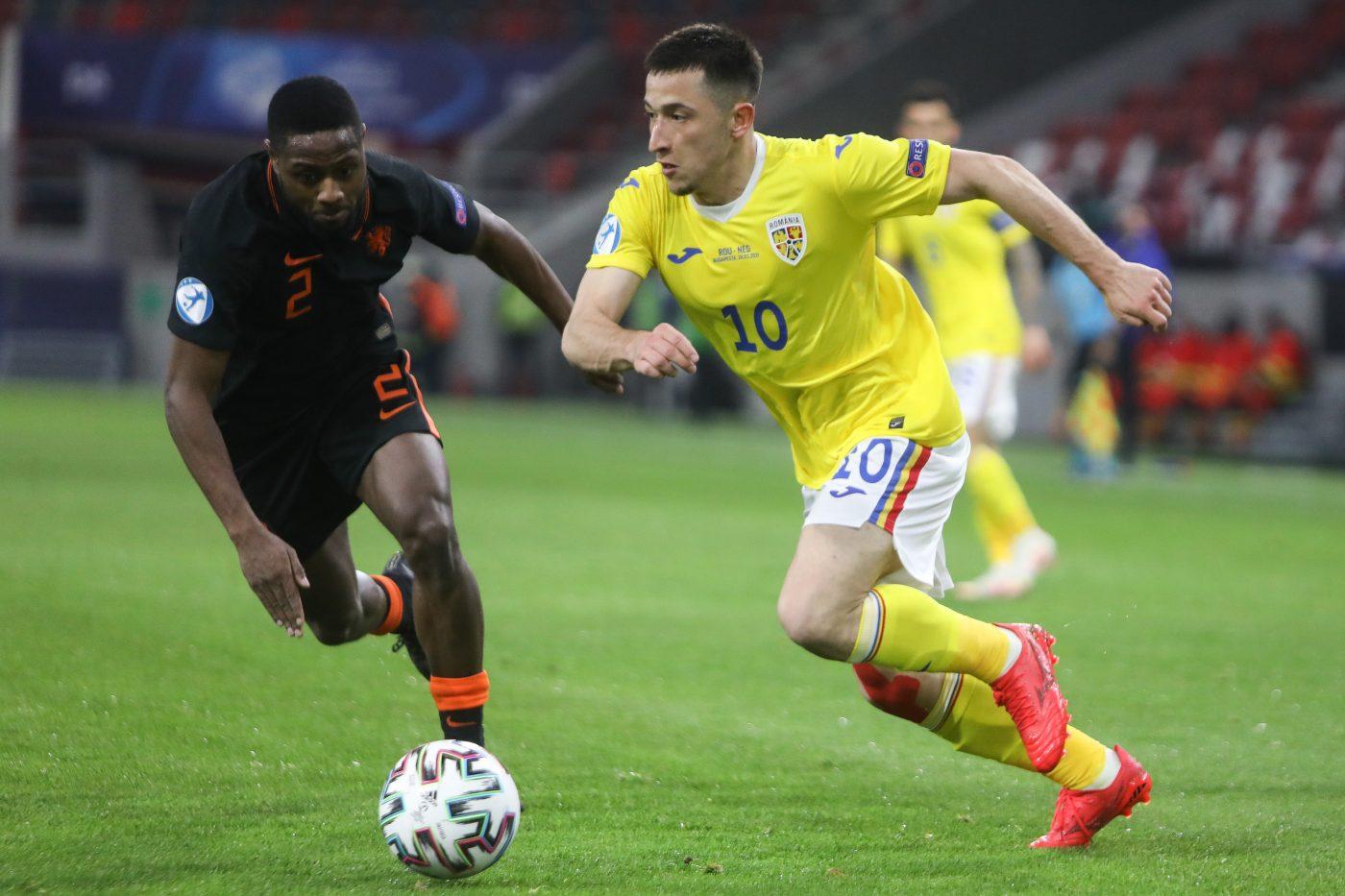 Meciul de fotbal dintre Romania U21 si Olanda U21 din prima etapa, grupa A a Campionatului European 2021, disputat pe arena Bozsik din Budapesta, Ungaria, miercuri, 24 martie 2021. CIPRIAN PETCUT / MEDIAFAX FOTO