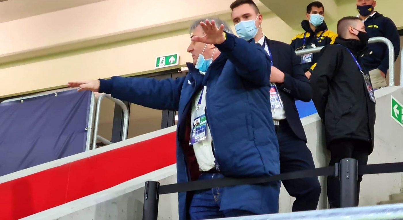 Stoichiță, într-un moment de exaltare tactică la meciul cu Ungaria U21