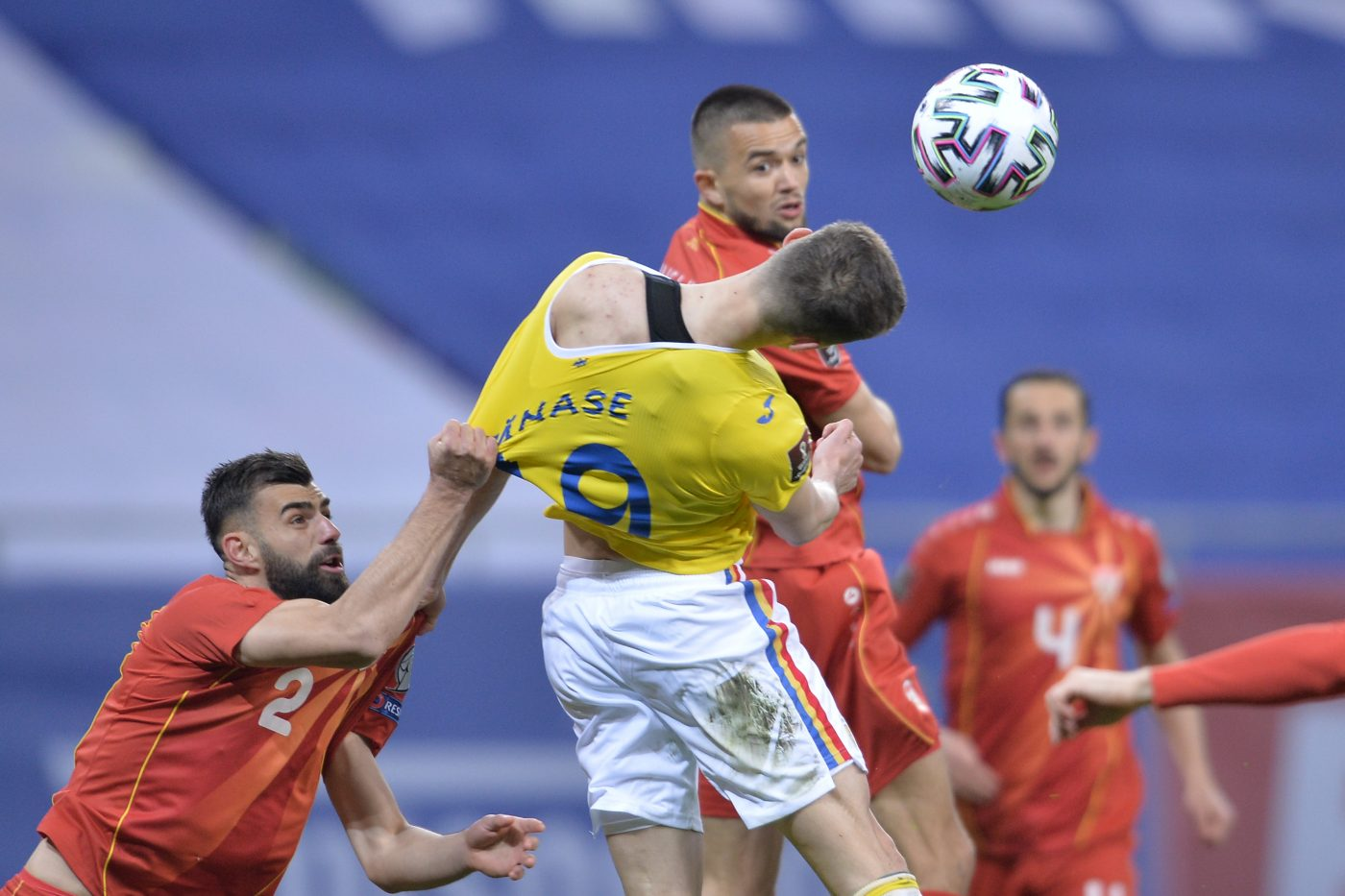 Florin Tanase a luptat din greu cu Macedonia de Nord, in primul meci din preliminariile CM 2022