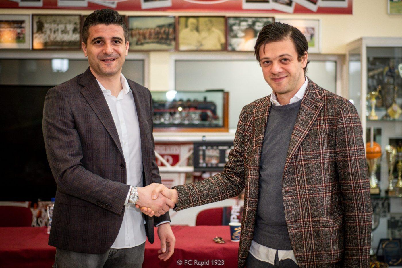 Daniel Niculae (stânga) și Victor Angelescu (dreapta) caută variante prin care să rezilieze cât mai ieftin actualele contracte de la Rapid