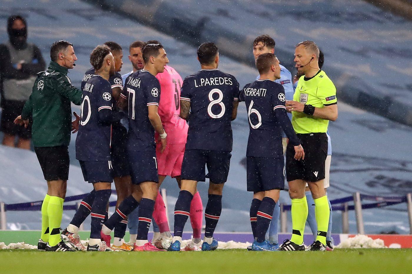"""Scandal imens după Manchester City – PSG! Arbitrul, acuzat că i-a insultat pe jucătorii campioanei Franței: """"Mi-a spus să te f**!"""""""