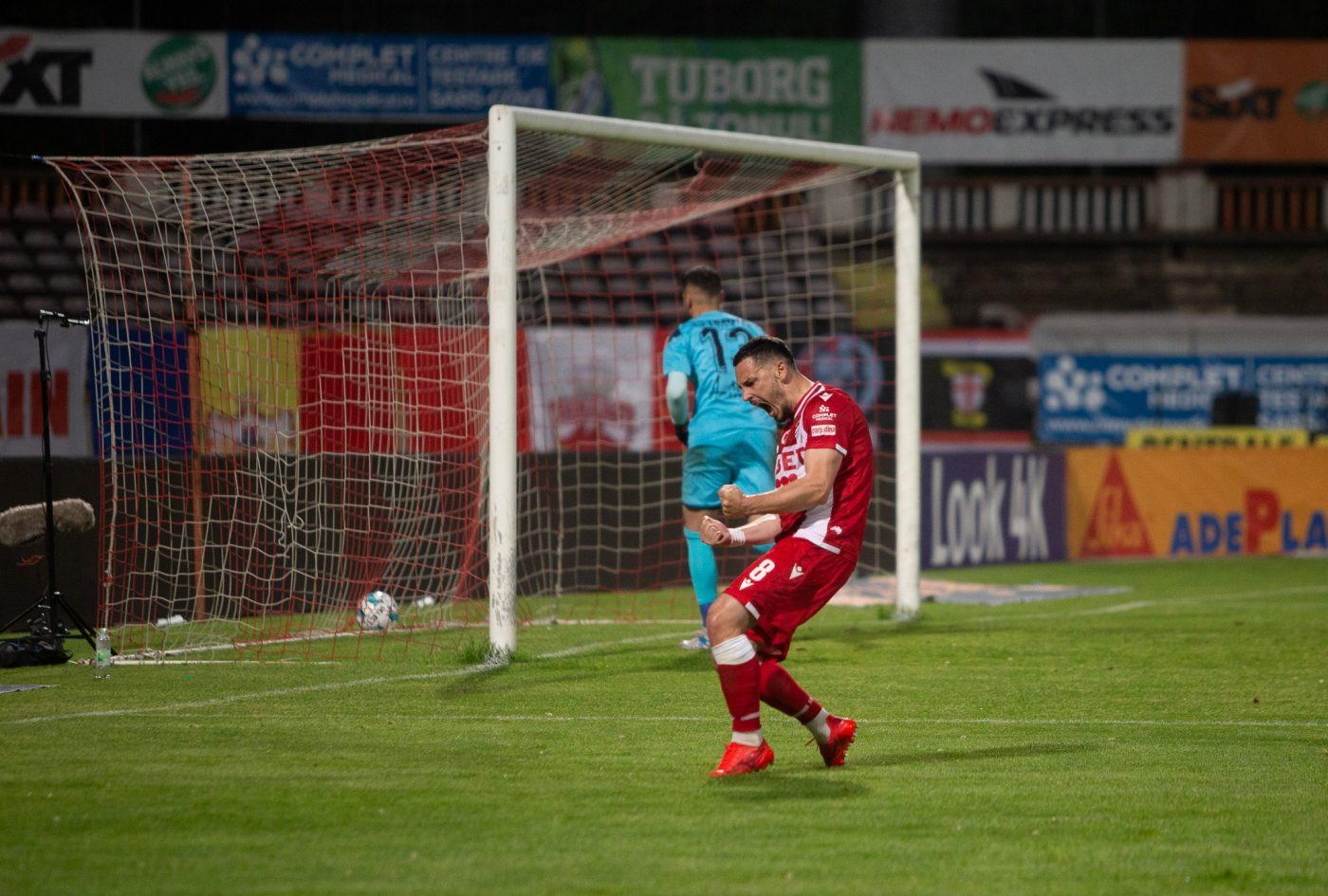 Paul Anton deschide scorul cu Hermannstadt, din lovitură de la 11 metri