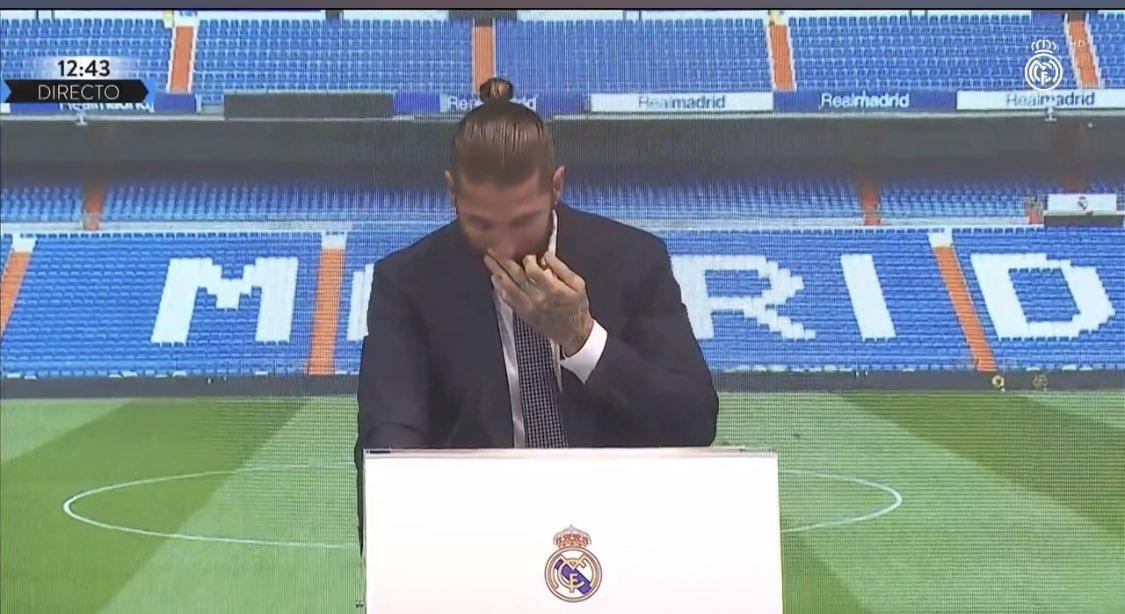 """Sergio Ramos, în lacrimi la despărțirea de Real Madrid: """"Nu o să mai trăiesc așa ceva!"""" Mesajul lui Florentino Perez: """"Ești o legendă!"""""""