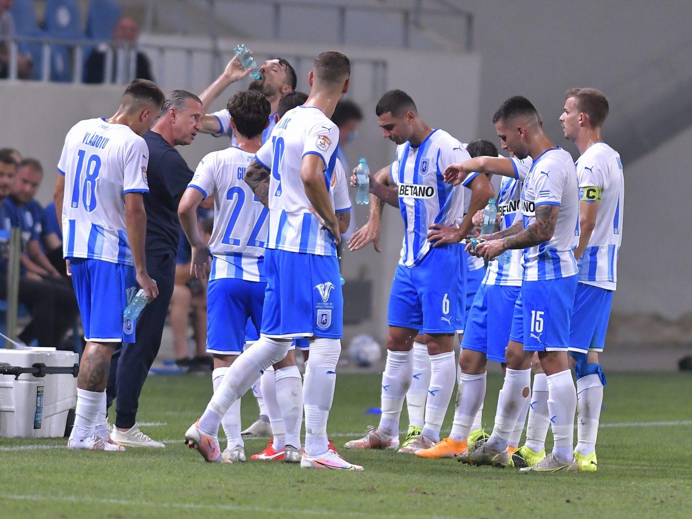 Universitatea Craiova – KF Laci 0-0, în turul II preliminar din Conference League | Laurențiu Reghecampf, eliminare la debutul pe banca tehnică a oltenilor
