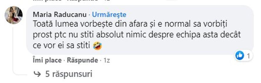 Soția unui fotbalist de la FC U Craiova, reacție virulentă la adresa contestatarilor formației oltene