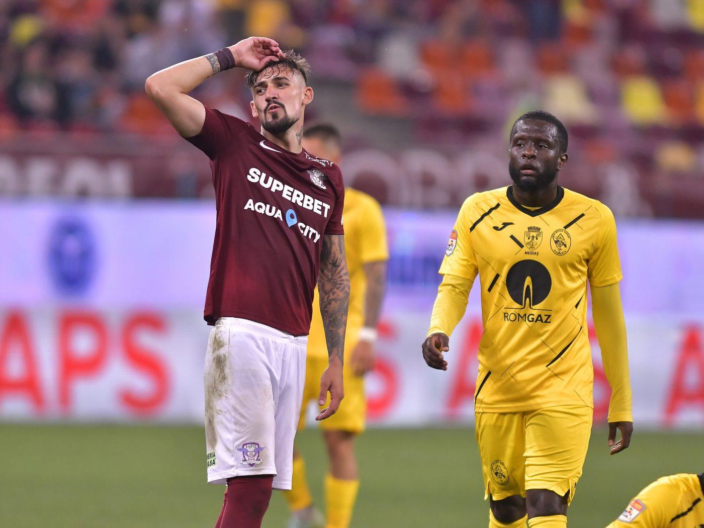 """Alexandru Albu a marcat pentru Rapid, dar a fost un car de nervi la finalul meciului: """"Domnii în negru și-au făcut jocul!"""""""